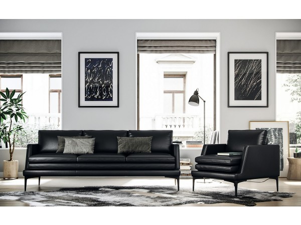 439 - Rica Black Sofa Set