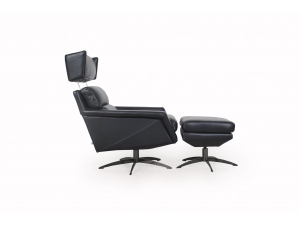 586 - Hansen Black Chair Set