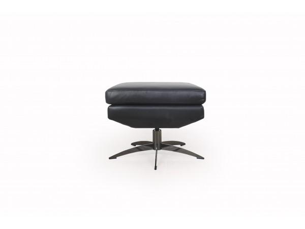 586 - Hansen Black Ottoman