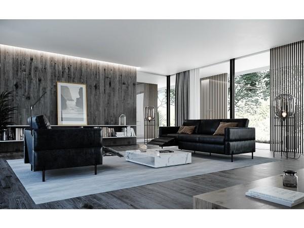 590 - Morris Charcoal Sofa Set
